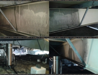 czyszczenie suchym lodem po pożarze
