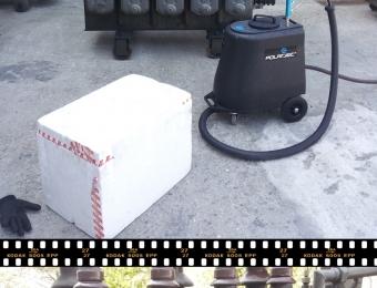 mycie suchym lodem