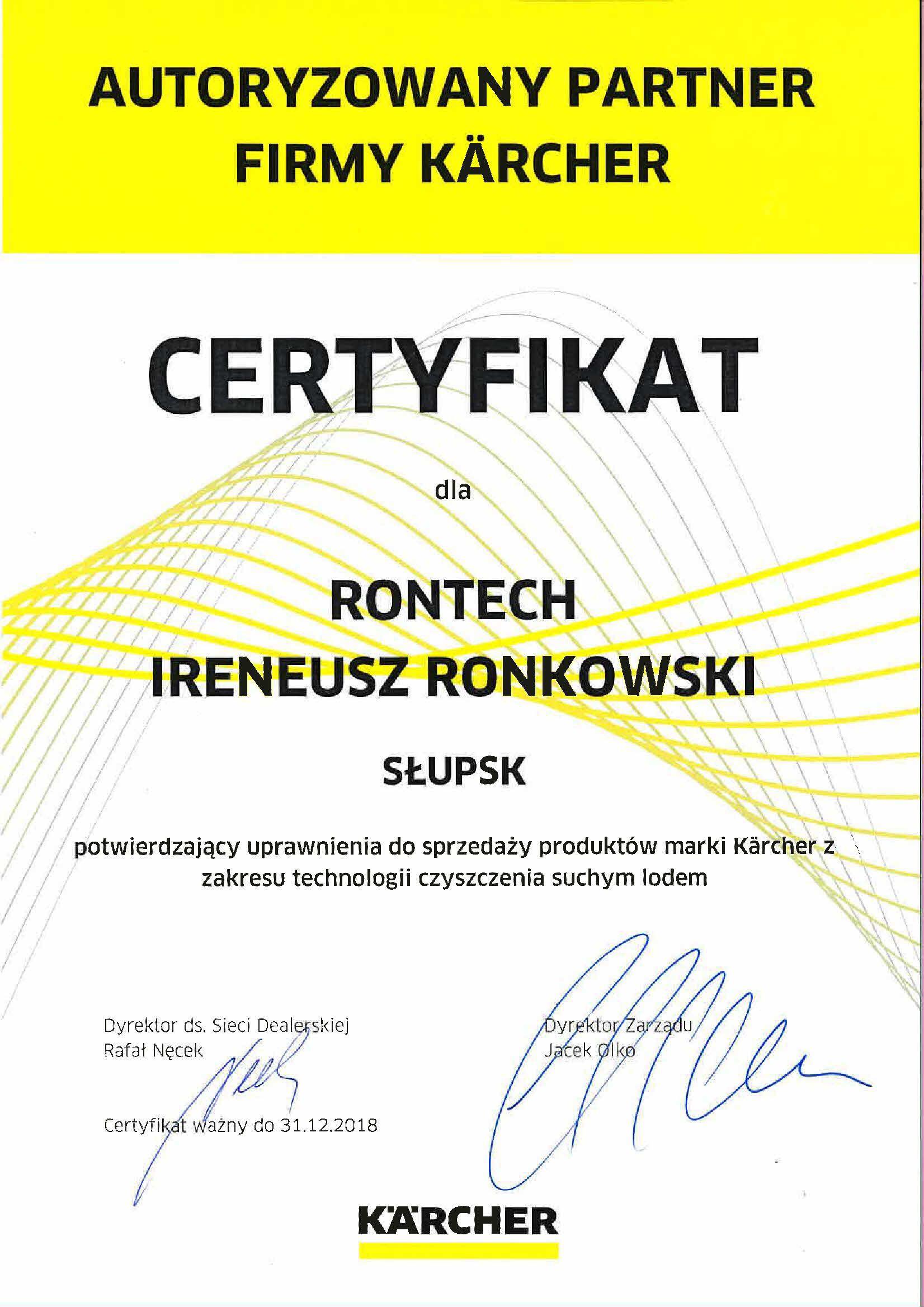 certyfikat KARCHER